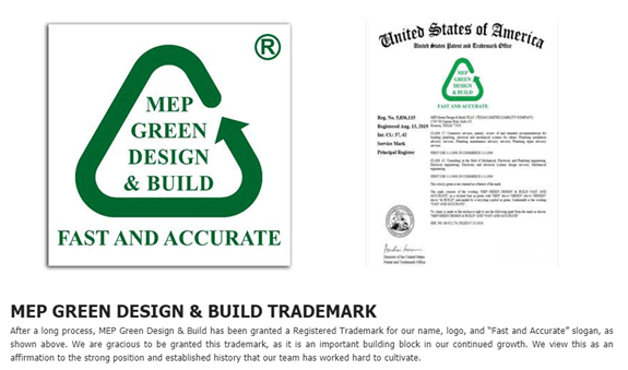MEP GREEN DESIGN& Build TRADEMARK